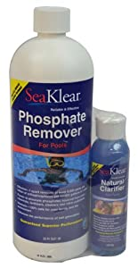 Seaklear 1040105 Phosphate Remover For Pools 1 Pint Swimming Pool Clarifiers