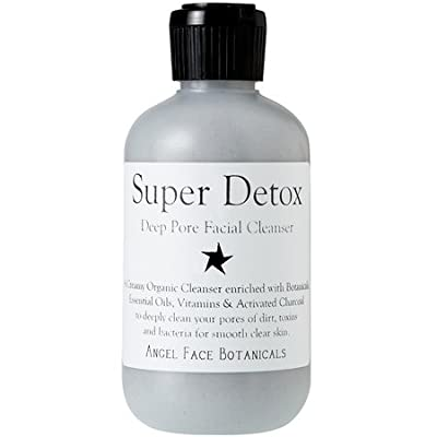 Best Cheap Deal for Super Detox - Organic Deep Pore Facial Cleanser with Activated Charcoal, Green Tea, and Argan Oil 4.3 oz by Angel Face Botanicals - Free 2 Day Shipping Available