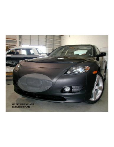 S Model only 2004 thru 2006 Fits Lebra 2 piece Front End Cover Black Car Mask Bra MAZDA 3 4DR