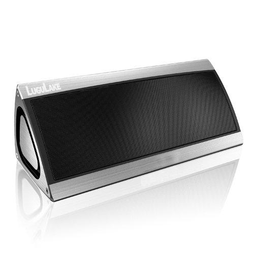 Lugulake Triangle 10Watt Dual Driver Portable Bluetooth Speaker Wireless Stereo Speaker W/ Built-In Mic, 10 Hour 2200Mah Rechargeable Battery - Bass Enhancement (Silver)