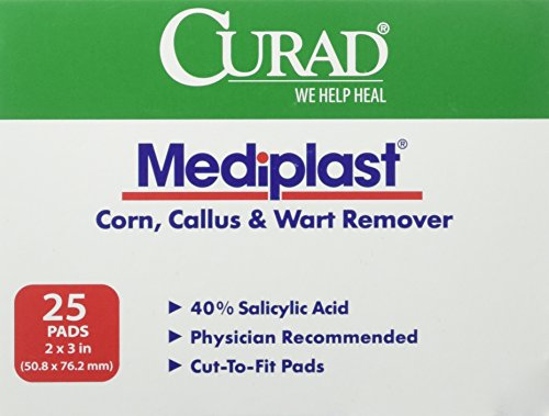 Curad Mediplast Corn, Callus & Wart Remover Pads, 25 Pads (Salicylic Acid Callus Remover compare prices)