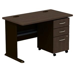 bush furniture desk with 3 drawer file 48 inch home office desks