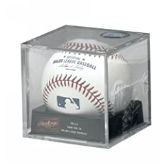 Rawlings Official Major League MLB Leather Baseball in display cube - 1 Dozen by Creative Sports