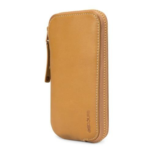 並行輸入品Incase Zip Wallet for iPhone 5s/5c/5 (Brown/Tan - ES89069)