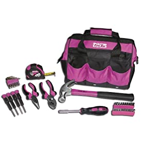 The Orignal Pink Box PB30TBK 12-Inch Tool Bag and Tool Set