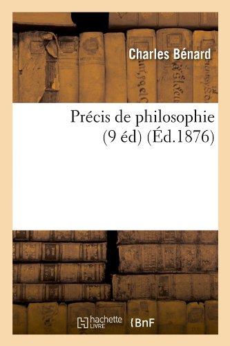 Precis de Philosophie (9 Ed) (Ed.1876)