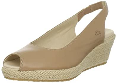Lacoste Women's Chantemar Wedge Pump,Light Tan,5 M US