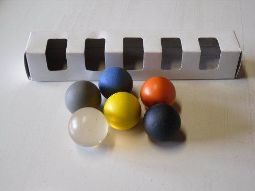 Minigolfbälle 6er Set A, Spezialbälle für Hobbyspieler