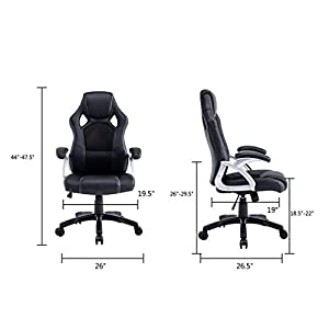 Best Choice Products Executive Racing Office Chair PU Leather Swivel Computer Desk Seat