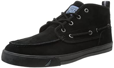 Nautica Men's Del Mar Mid-Top,Black,11 M US