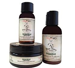 Razor MD RX Shave Trio (Herbal Blend)- Post Shave Lotion 60ml + Pre Shave Oil 30ml + Shave Cream 60ml 3pcs