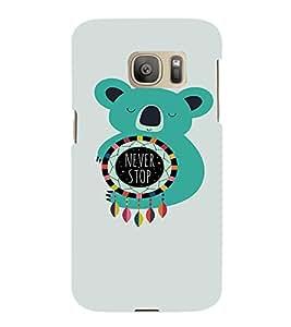 EPICCASE Cute Panda Mobile Back Case Cover For Samsung Galaxy S7 (Designer Case)