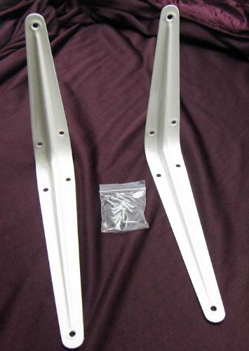 2-x-Brettwinkel-20-cm-Metall-Brett-Regal-Schrank-Winkel-Halterung-Trger-wei-LHS