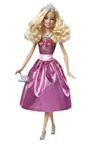Barbie Princess Doll - Dark Pink Dress