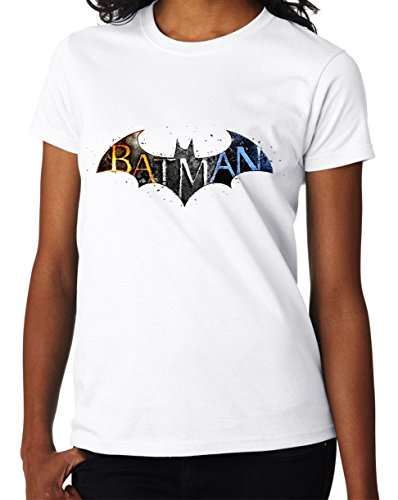 Batman The Dark Knight Symbol Great Design Women DonnaWhite T-shirt