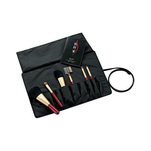 ゼニス 化粧筆セット 熊野筆 熊野化粧筆 6本セット ブラシ専用ケース付 KFiーR156