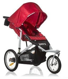 Joovy Zoom 360 Swivel Wheel Jogging Stroller, Red