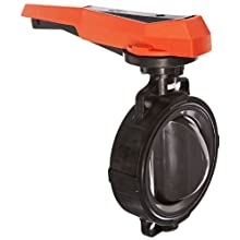 GF Piping Systems PVC Butterfly Valve, Hand Lever with Ratchet Settings, EPDM Seal, 8""