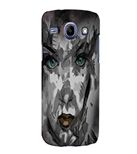 Fuson Night Haunted Girl Face Back Case Cover for SAMSUNG GALAXY CORE I8260 - D4116