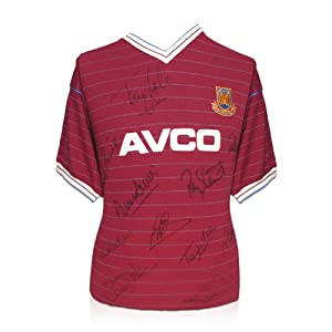 West Ham Boys Of 86 Shirt Signed By 12 | Autographed Soccer Memorabilia by exclusivememorabilia.com