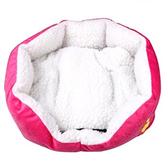 niche panier lit maison pour chien chat en tissu polaire petit 50 40 16 cm rose. Black Bedroom Furniture Sets. Home Design Ideas
