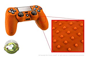 Playstation 4 STUDDED Controller Skin by Foamy Lizard ® (CYBER MONDAY SALE!) ParticleGrip (Individual) Premium Protective Anti-slip Silicone Grip Case Cover For Wireless PS4 Controller (Axion - Orange)