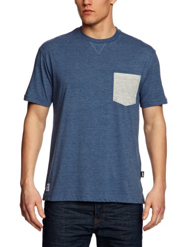 Addict 2 Tone Heather Pocket Patterned Men's T-Shirt Athletic Blue Medium