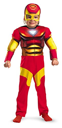 Boys Iron Man Muscle Kids Child Fancy Dress Party Halloween Costume