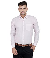 Frankline Men's Formal Shirt (Frankline-58_ Pink _42)