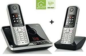 Gigaset S 810 A Duo Telefon inkl. Mobilteil stahlgrau-schwarz