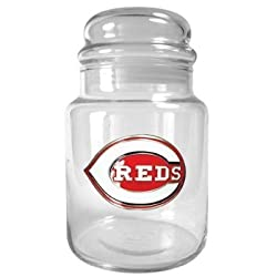 Cincinnati Reds 31oz Glass Candy Jar - Primary Logo MLB Baseball