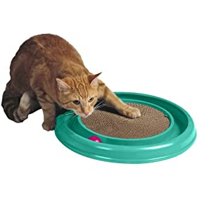 Bergan Turbo Scratcher Cat Toy (Colors May Vary)