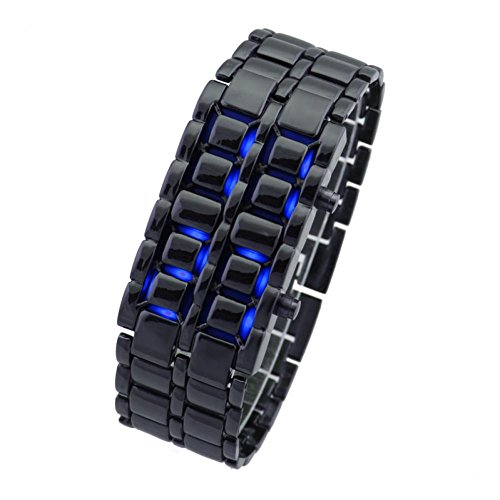 Bags shop 1Pcs Men'S Led Watch Steel Lava Watches Stainless Steel Wristwatches Two Lights Outside Casual Watches New 2015 (Dakota Stainless Steel Watch compare prices)