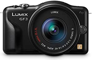Panasonic Lumix DMC-GF3 12.1MP Compact System Camera Kit with 14mm Lumix G f/2.5 ASPH Lens - Black