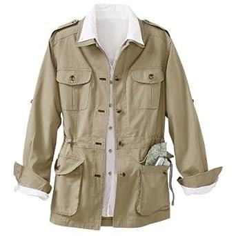 Plus Size Bush Poplin Safari Jacket Khaki 3x At Amazon Women S Coats Shop