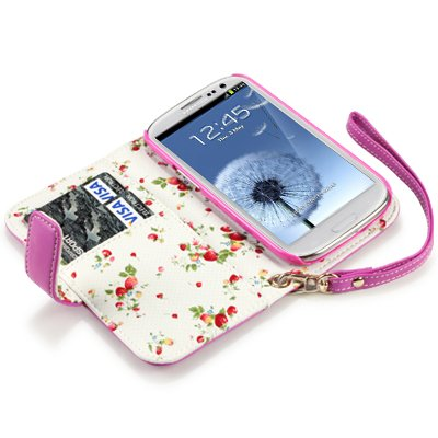 SAMSUNG i9300 GALAXY S3 HOT PINK PREMIUM PU LEATHER