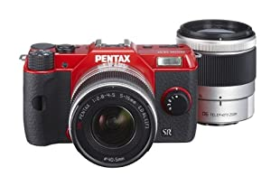 Pentax Q10 Kit compact hybride 12,4 Mpix Rouge + Objectif 5-15 mm f/2.8-4.5 + 15-45 mm f/2.8