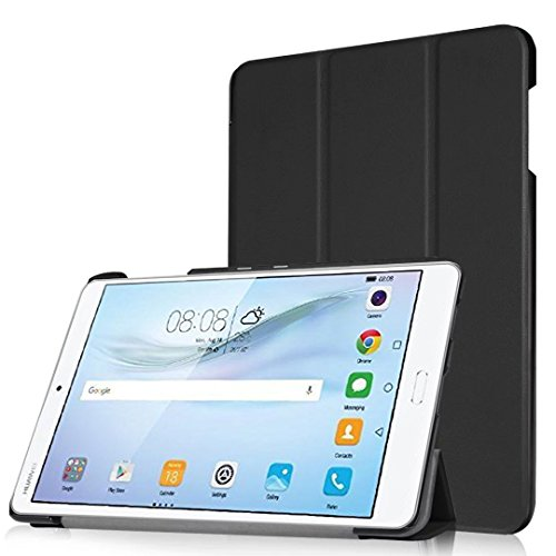 Huawei MediaPad M3 Case, TopAce PU Leather Smart Case With Stand Function For Huawei MediaPad M3 8.4 Inch (Black)