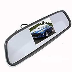 Alria 4.3 Digital TFT LCD Screen RearView Mirror Monitor for Car Reverse for Backup Camera