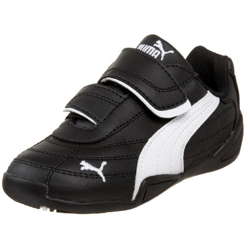 PUMA Tune Cat B Hook-And-Loop Sneaker (Toddler/Little Kid/Big Kid),Black/White,7 M US Toddler