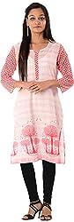 Kaashvi Creations Women's Cotton Straight Kurta (99901000000089-M, Red, Medium)