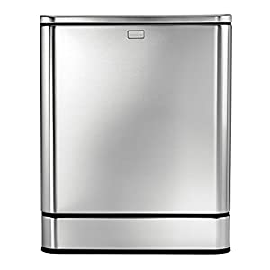 simplehuman Rectangular Sensor Can, Touch-free Automatic Trash Can, Stainless Steel, 40 L / 10.5 Gal
