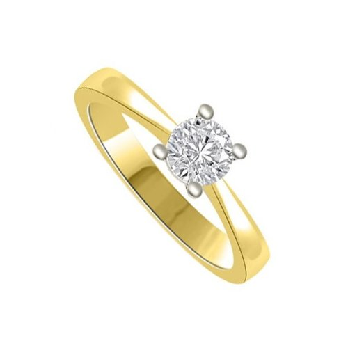 Infinity Jewellery 0.25ct Solitaire Engagement Ring with a Round Brilliant Cut Diamond G/VS1 in 18ct yellow and white gold - F