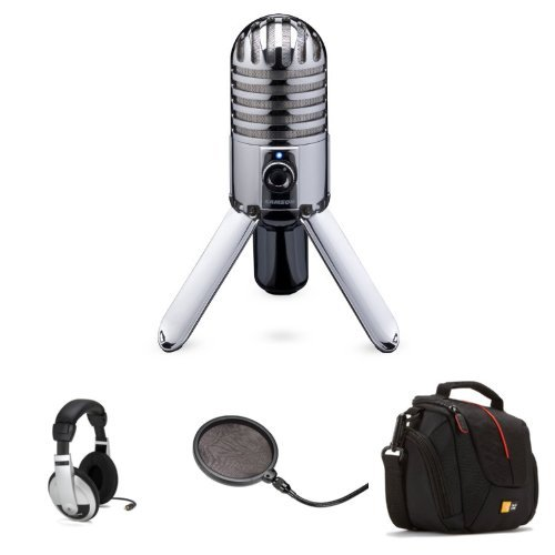 Samson Meteor Mic Bundle With Headphones, Pop Filter And Bag