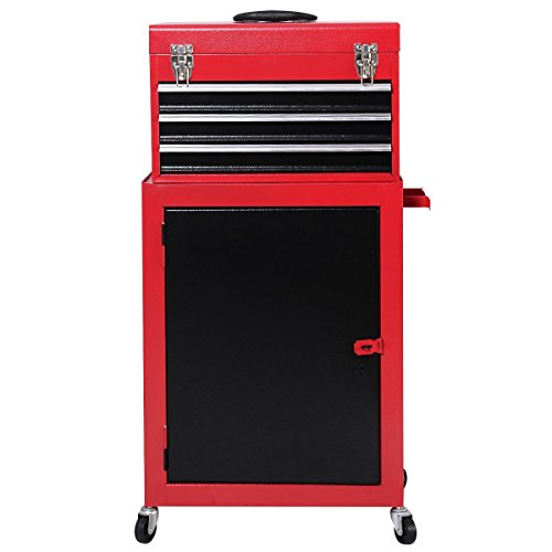 2Pcs Mini Tool Chest & Cabinet Storage Box Rolling Garage Toolbox Organizer ,New