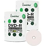 Smart Buy 200 Pack DVD-R 4.7gb 16x White Printable Inkjet Blank Media Record Disc 200 Disc 200pk