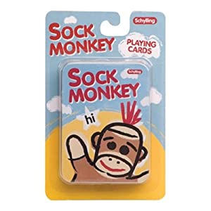Schylling Sock Monkey - PLAYING CARDS in Tin