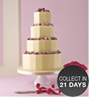 White Chocolate Plaque Wedding Cake