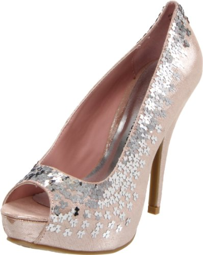 Chinese Laundry Women's Harvest Moon Peep-Toe Pump,Blush,9 M US
