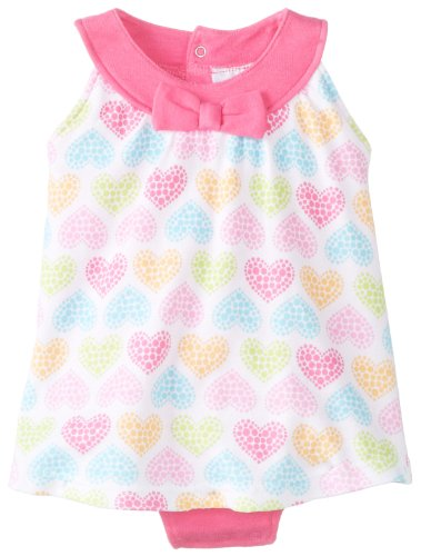 Bon Bebe Baby-Girls Newborn Heart Sundress With Built-In Diaper Bottom, Multi, 3-6 Months front-985305